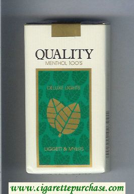 Discount Quality Liggett and Myers Deluxe Lights Menthol 100s cigarettes soft box