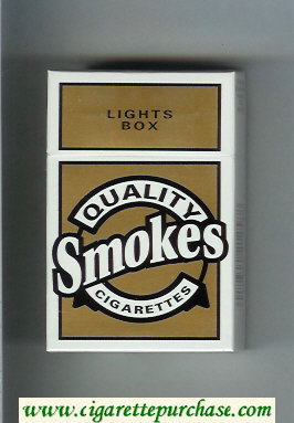 Discount Quality Smokes Lights cigarettes hard box