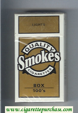 Discount Quality Smokes Lights 100s cigarettes hard box