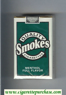 Discount Quality Smokes Menthol Full Flavor cigarettes soft box