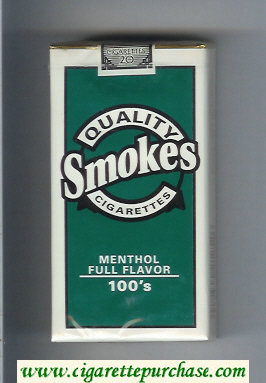 Discount Quality Smokes Menthol Full Flavor 100s cigarettes soft box