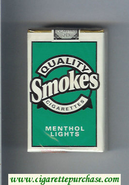 Discount Quality Smokes Menthol Lights cigarettes soft box