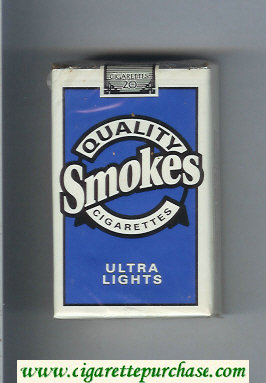 Discount Quality Smokes Ultra Lights cigarettes soft box