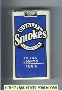 Discount Quality Smokes Ultra Lights 100s cigarettes soft box