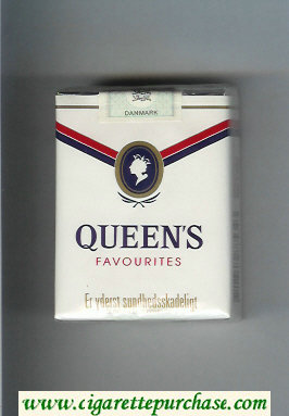 Queen's Favourites cigarettes soft box
