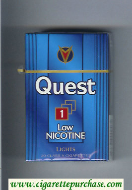 Discount Quest 1 Low Nicotine Lights cigarettes hard box