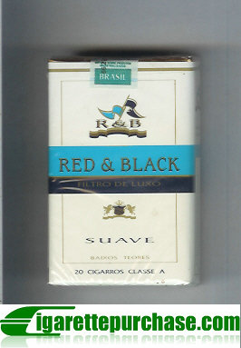 R and B Red and Black Suave cigarettes soft box
