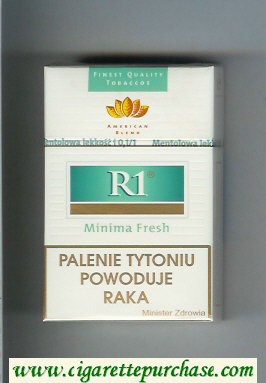 R1 Reemtsma No 1 Minima Fresh American Blend cigarettes hard box