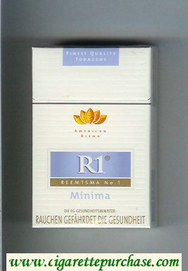 R1 Reemtsma No 1 Minima American Blend 19 cigarettes hard box