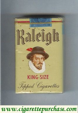 Raleigh cigarettes grey soft box