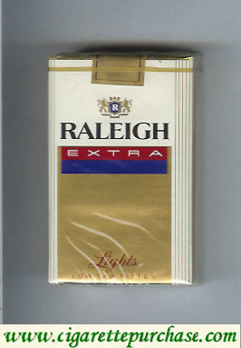 Raleigh Extra Lights cigarettes soft box