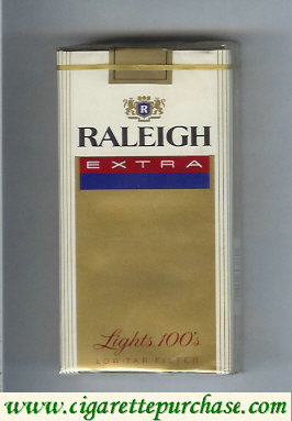 Raleigh Extra Lights 100s cigarettes soft box