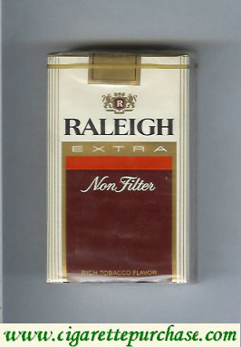 Raleigh Extra Non-Filter cigarettes soft box