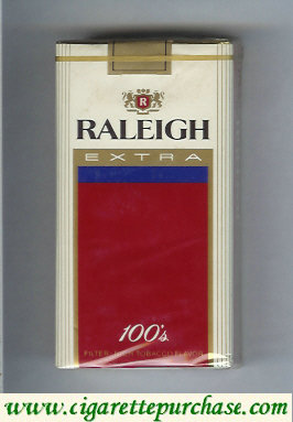 Raleigh Extra 100s cigarettes soft box