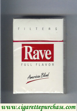 Discount Rave Full Flavor Filters American Blend cigarettes hard box