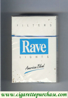 Discount Rave Lights Filters American Blend cigarettes hard box