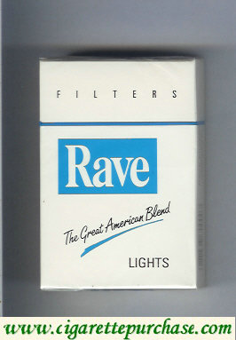 Discount Rave Lights Filters The Great American Blend cigarettes hard box