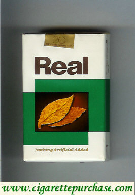 Discount Real Nothing Artificial Added Menthol cigarettes soft box