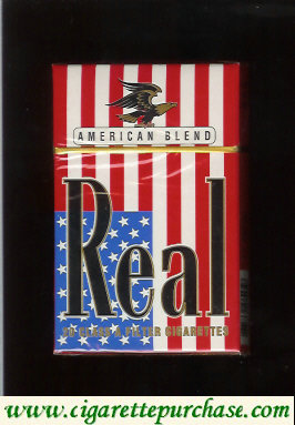 Discount Real American Blend cigarettes hard box