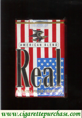 Discount Real American Blend cigarettes soft box
