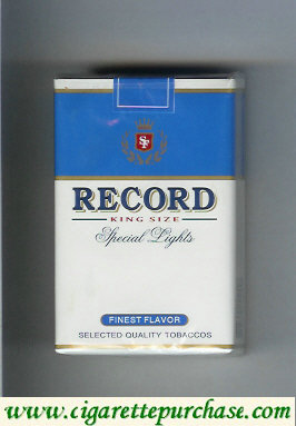 Record Special Lights Finest Flavor cigarettes soft box
