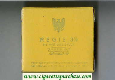 Regie 3 13 cigarettes wide flat hard box