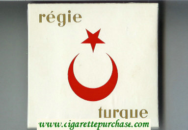 Regie Turque cigarettes wide flat hard box