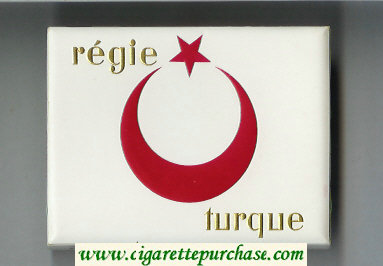 Regie Turque wide flat hard box cigarettes