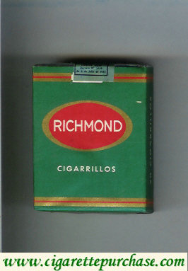 Richmond cigarettes green and red soft box