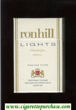 Ronhill Lights cigarettes white hard box