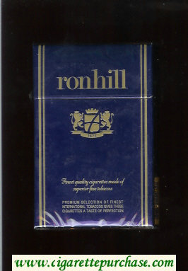 Ronhill cigarettes blue hard box