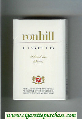 Ronhill Lights cigarettes hard box