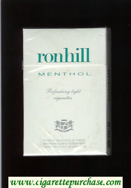 Ronhill Menthol cigarettes white hard box