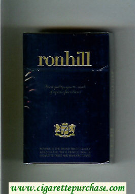 Ronhill cigarettes dark blue hard box