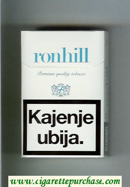 Ronhill hard box cigarettes