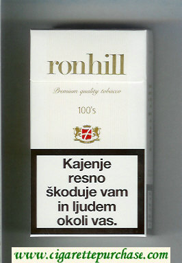 Ronhill 100s cigarettes hard box