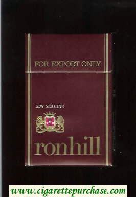 Ronhill Low Nicotine cigarettes brown hard box