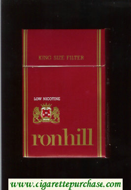 Ronhill Low Nicotine cigarettes red hard box