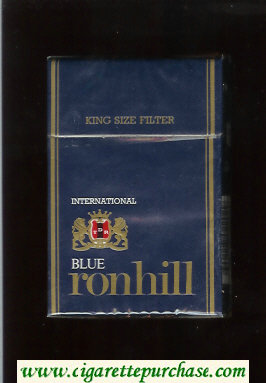 Ronhill Blue International cigarettes blue hard box