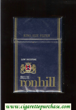 Ronhill Blue Low Nicotine cigarettes blue hard box
