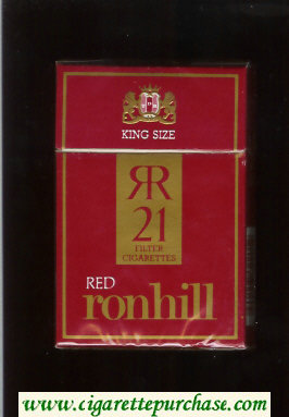Ronhill Red 21 cigarettes red hard box