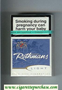 Discount Rothmans Light cigarettes hard box
