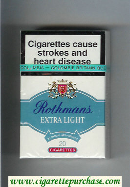 Discount Rothmans Extra Light By Special Appointment cigarettes hard box