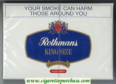 Rothmans King Size Filter Tipped By Special Appointment 30 cigarettes wide flat hard box