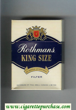 Discount Rothmans Filter By Special Appointment cigarettes hard box