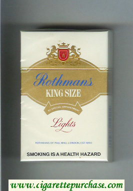 Discount Rothmans Lights By Special Appointment cigarettes hard box