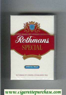 Discount Rothmans Special Special Mild By Special Appointment cigarettes hard box