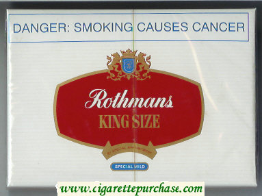 Discount Rothmans Special Mild By Special Appointment 30 cigarettes wide flat hard box