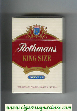 Discount Rothmans Special By Special Appointment cigarettes hard box