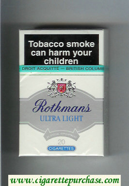 Discount Rothmans Ultra Light By Special Appointment cigarettes hard box